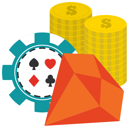 Casino chips illustration.