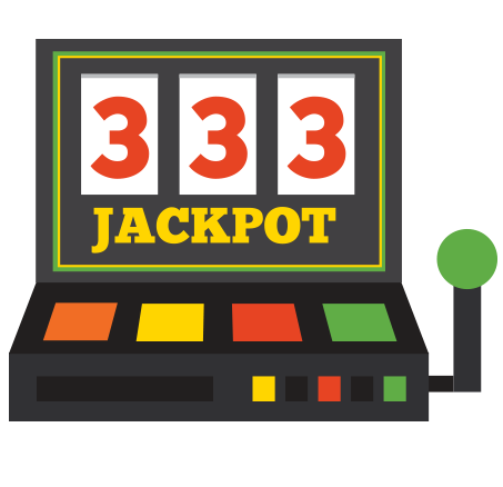 Slot machine showing jackpot.