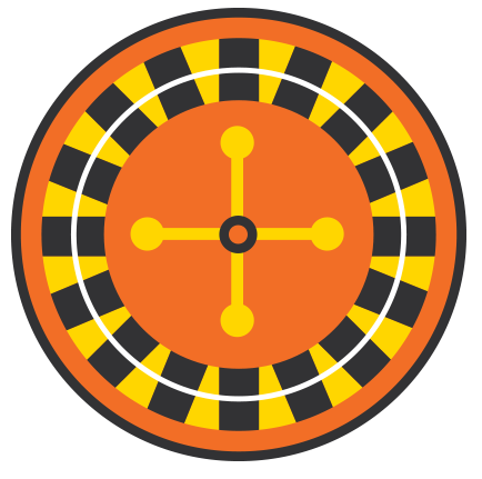 Roulette wheel illustration.